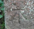 Image for Cut Bench Mark on Gate Post - Wycoller, England