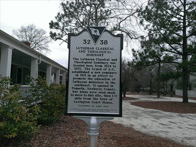 Side one of historical marker located at the Lexington County Museum, Lexington SC