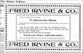 Image for Fred Irvine and Company - Nelson, BC - 1902