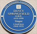 Image for Dusty Springfield - Aubrey Walk, London, UK