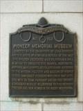 Image for Pioneer Memorial Museum