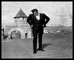 Johnny Cash at the same location, 1968 for his concert. Photo courtesy of John at MyFolsom.com