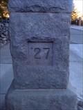 Image for West Entrance Stone Pillars - 1927 - University of Nevada, Reno