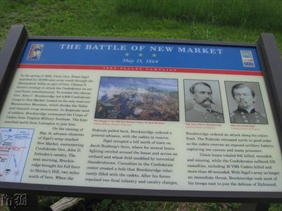 The battle was fought in New Market on May 15, 1864.