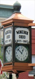 Image for Minerva Bank & Trust Clock  -  Minerva, OH