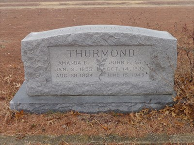 John F. Thurmond was the benefactor of the church, school, and cemetery.