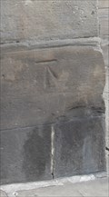 Image for Cut-mark on the old Market Hall building, Buxton Road, Ashbourne, Derbyshire.