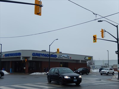 Greyhound Station at York and Talbot Streets in London, Ontario