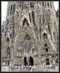 Image for The three portals of the facade of the Birth of Christ, Sagrada Familia, Barcelona, Catalonia, Spain