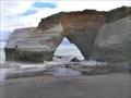 Image for Sea Arch at Cave Beach. Taranaki. New Zealand.