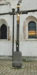 Image for Cross beside Church of the Nativity of the Virgin Mary - Pisek, Czech Republic