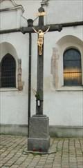 Image for Cross beside Church of the Nativity of the Virgin Mary - Pisek, Czech Republic