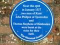 Image for John Phillpot and Thomas Stephens at Wye, Kent. UK