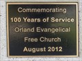 Image for Orland Evangelical Free Church - 100 Years - Orland, CA