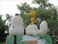 Image for Snoopy and Woodstock on Painted Doghouse - Falcon Heights, MN