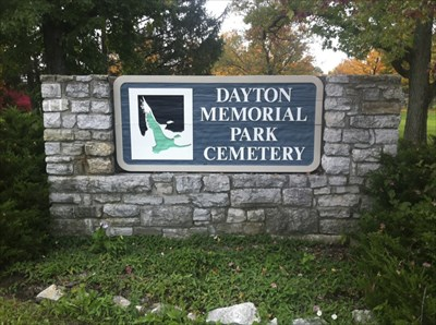 Dayton Memorial Park Cemetery Sign