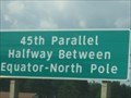 Image for 45th Parallel Highway Sign - Interstate 75 - Gaylord, MI