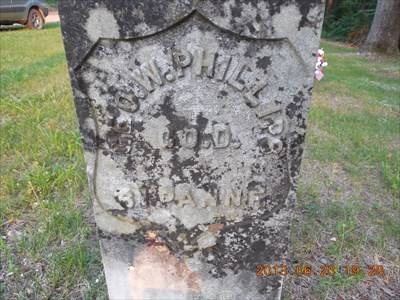 This is the oldest grave, that of George Washington Phillips, Company D, 61st Pennsylvania Infantry at Phillips Cemetery, by MountainWoods