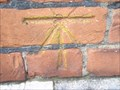 Image for Cut Bench Mark on Lambeth Palace, London, UK.