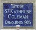 Image for St Katherine Coleman - St Katherine's Row, London, UK