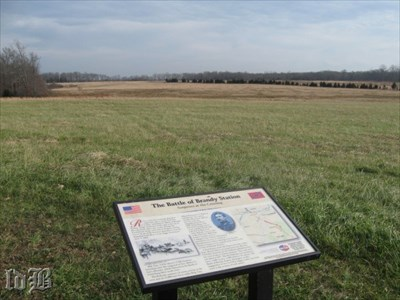 Union soldiers advanced down the road off to the left in the distance totally unexpectedly.