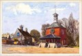 """Image for """"Clock Tower Fenstanton"""" by Edward Walker – Clock Tower, High St, Fenstanton, Hunts, UK"""
