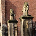 Image for Grays Court garden lions – York, UK