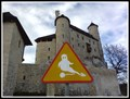 """Image for Unusual Sign """"Beware of ghosts"""" - Bobolice, Poland"""