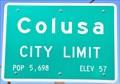 Image for Colusa ~ Population 5,698