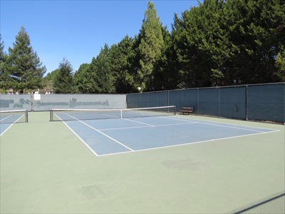 University Terrace Tennis Courts, Right, Santa Cruz, California