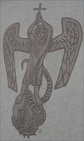 Image for Archangel Michael and the Dragon -- St. Briccius Kirche, Wurmlingen, Germany, BW