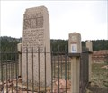 Image for LHA posts at Henry Joy monument -east of Laramie Wyoming