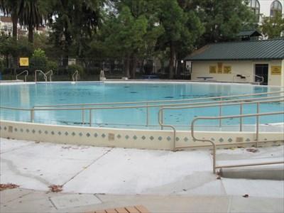 Ryland Pool, looking East, Showing Dutchboy Tiles, San Jose, CA