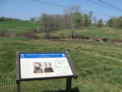 The Union troops retreated across Mott`s Run, a small creek and ran for the hills.