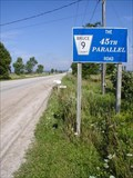 Image for 'THE 45TH PARALLEL ROAD'   ~  Lions Head, Ontario CANADA