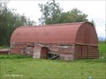 Image for Red Quonset Hut Barn, Musk Ox Farm, Near Palmer, AK, USA