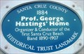 Image for Blue Plaque: Professor George Hasting's Home