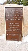 Image for Philipsburg Cemetery Veterans Memorial - Philipsburg, MT