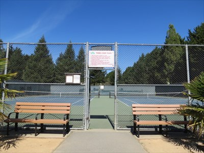 University Terrace Tennis Courts Entrance, Santa Cruz, California