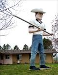 """Image for Lazy """"T"""" Ranch Cowboy Muffler Man - Lyons, Colorado"""