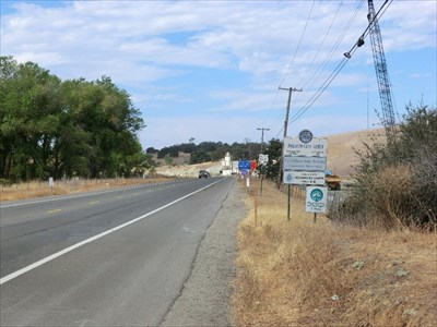 Repairs are being made to the Folsom Lake Reservoir near the sign, which is in the northwest corner of the city.