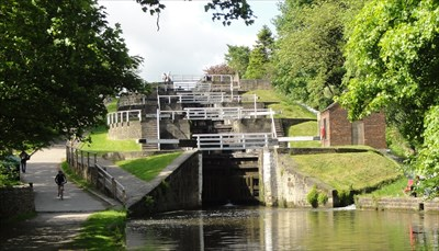 This is the view of the locks looking from the bottom of them.