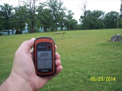Highest Point in Benton County Arkansas, by MountainWoods.  No, I am not 12 feet tall!  But elevations are the most inaccurate measurement on a GPSr.  According to professional surveying, we should be at 1808 feet plus about 5 feet or so.