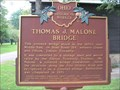 Image for Thomas J. Malone Bridge (Ohio Historical Marker)