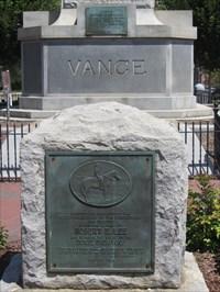 Note the base of the Vance Obelisk behind