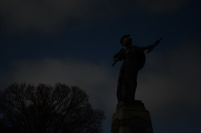 The interesting statue