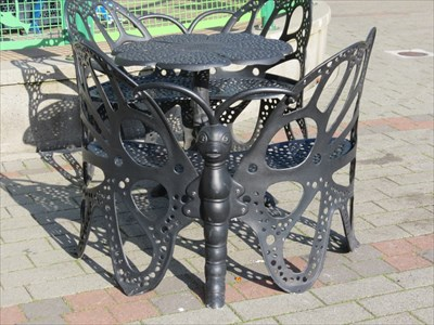 Butterfly Bench from Behind, Redmond, Washington