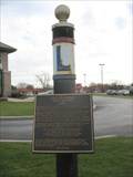 Image for Lincoln Highway Ideal Section 1923 pole & marker - Dyer, IN
