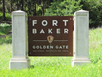 Fort Baker Sign, Marin Headlands, CA