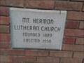 Image for 1958 - Mt. Hermon Lutheran Church - Peak SC